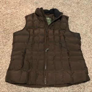 Eddie Bauer Quilted Goose Down Vest Size Large